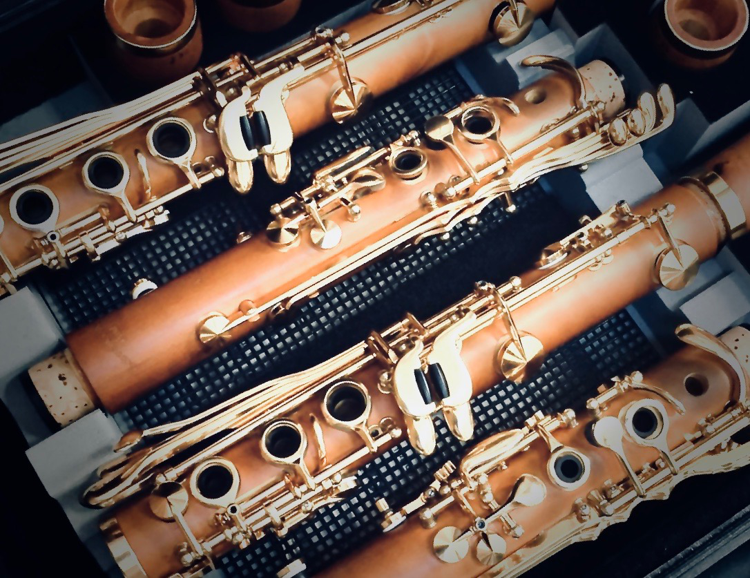 Photo of boxwood clarinets